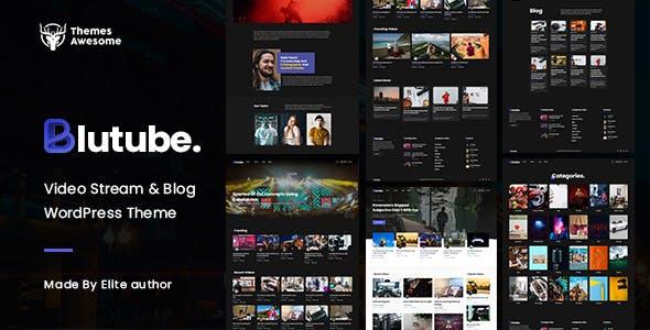 Blutube   Video Stream & Blog WordPress Theme