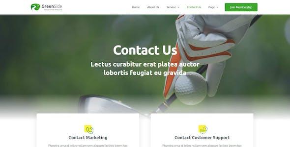 Greenside - Golf Club & Academy Elementor Template Kit