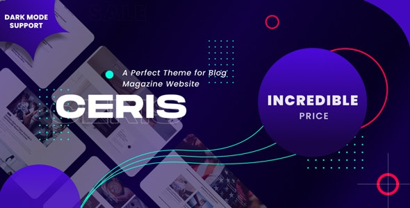 Ceris - Magazine and Blog WordPress Theme - News / Editorial Blog / Magazine