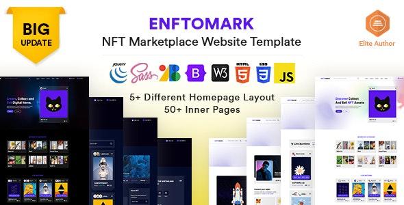 Enftomark - NFT Marketplace Website template - Technology Site Templates