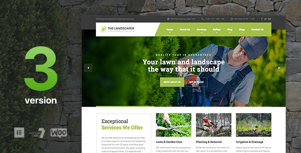 The Landscaper - Lawn & Landscaping WP Theme - Business Corporate