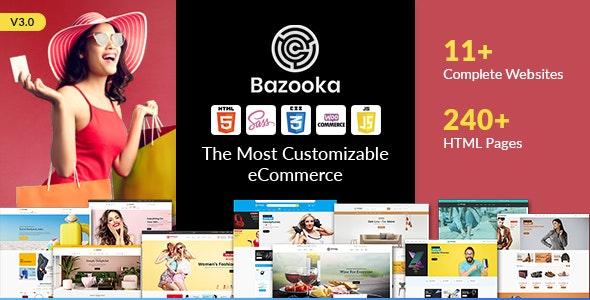Bazooka Multipurpose eCommerce shopping HTML template - Shopping Retail