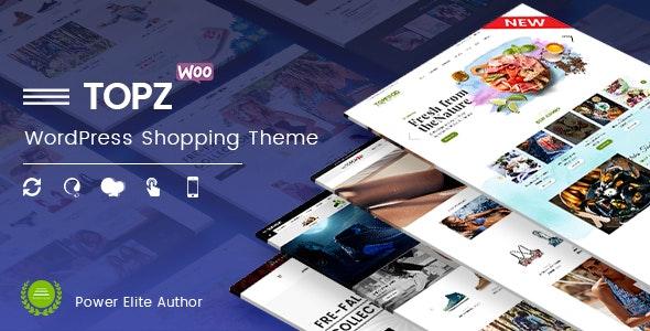 TopZ - Food Store & Sport Fashion Shop WooCommerce WordPress Theme - WooCommerce eCommerce