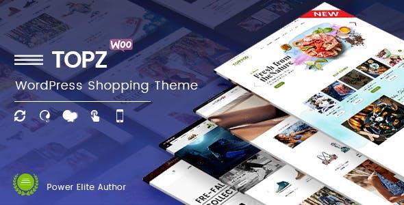 TopZ - Food Store & Sport Fashion Shop WooCommerce WordPress Theme