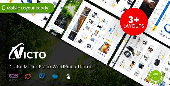 Victo - Digital MarketPlace WordPress Theme (Mobile Layouts Included) - WooCommerce eCommerce
