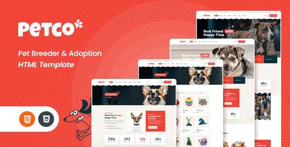Petco - Pet Breeder & Adoption HTML5 Template