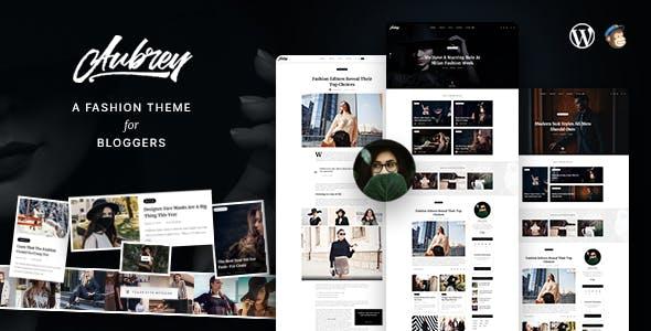 Aubrey - An Elegant WordPress Blog For Fashion Enthusiasts