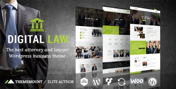 Digital Law | Attorney & Legal Advisor WordPress Theme