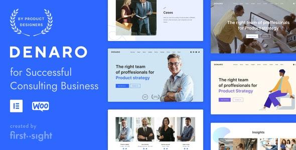 Denaro — Consulting WordPress - Business Corporate