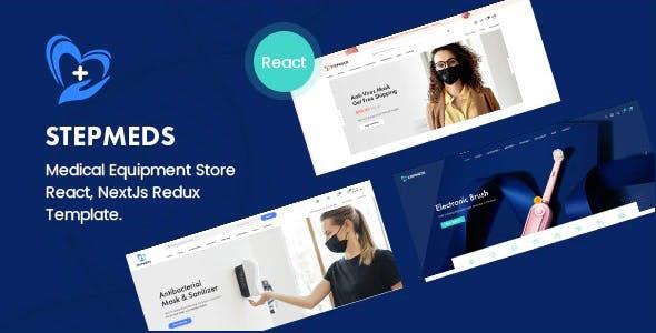 Stepmeds - Medical Equipment Store React, NextJs Redux Template