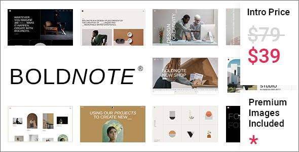 Boldnote - Portfolio and Agency WordPress Theme