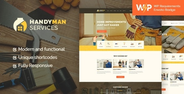 Handyman   Construction and Repair Services Building WordPress Theme - Business Corporate