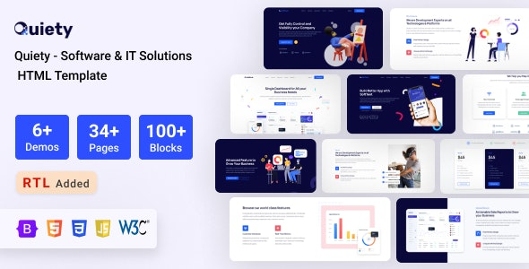 Quiety – Software & IT Solutions HTML Template - Software Technology