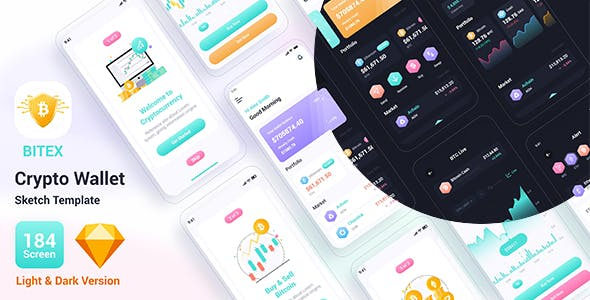 Bitex – Crypto Wallet Sketch Template