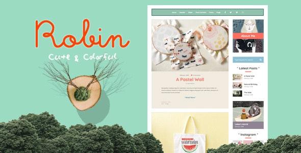 Robin - Cute & Colorful Blog Theme - Personal Blog / Magazine