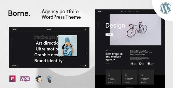 Borne - Agency Portfolio WordPress Theme - Portfolio Creative