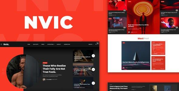 Nvic - Blog & Magazine Elementor Template Kit
