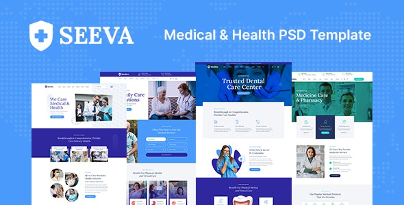 Seeva - Medical and Dental PSD Template - Health & Beauty Retail