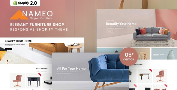 Nameo - Elegant Furniture Shop For Shopify - Shopify eCommerce