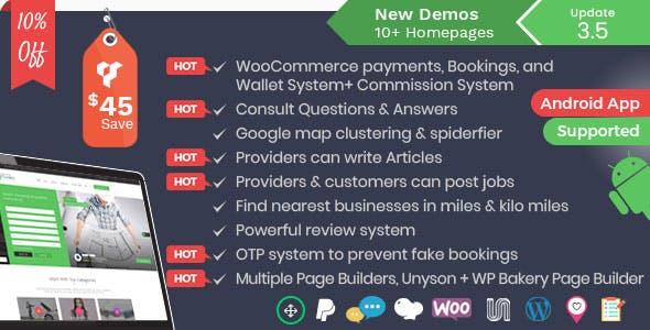 Listingo - Business Listing and Directory WordPress Theme