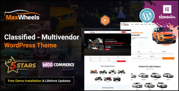 Maxwheels - Car Dealer Automotive & Classified Multivendor WordPress Theme - Directory & Listings Corporate