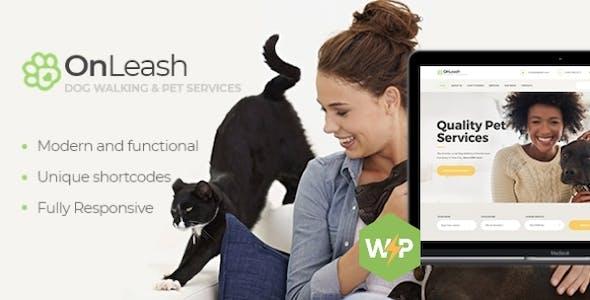 OnLeash | Dog Walking & Pet Services Veterinary WordPress Theme