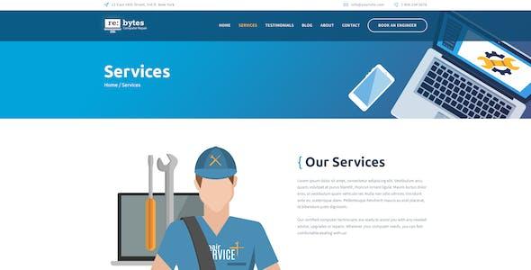 Re:bytes | Electronics & Computer Repair Service WordPress Theme