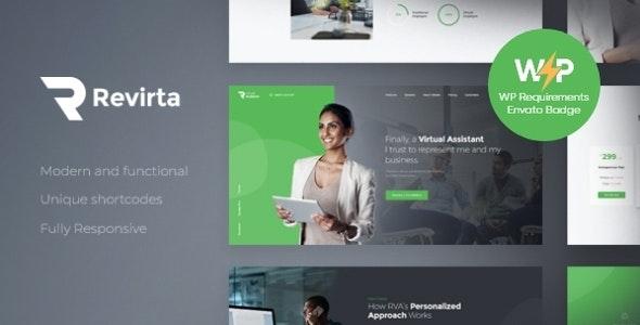 Revirta | Personal Virtual Assistant & Secretary WordPress Theme - Business Corporate