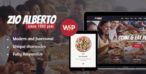 Zio Alberto | Pizza Restaurant, Cafe & Bistro WordPress Theme - Restaurants & Cafes Entertainment