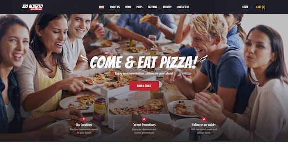 Zio Alberto | Pizza Restaurant, Cafe & Bistro WordPress Theme