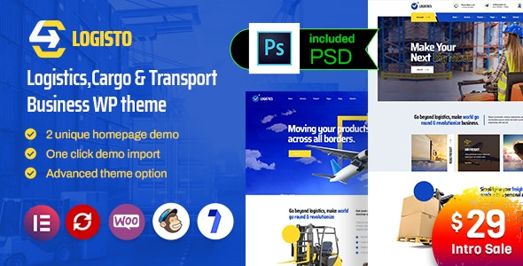 Logisto - Logistic and Cargo WordPress Theme - Business Corporate