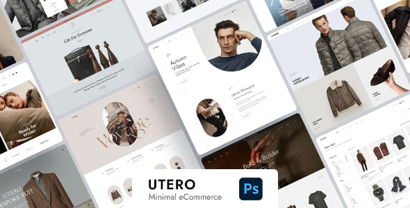 Utero - Minimalist eCommerce PSD Template