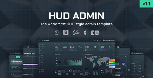 HUD - Bootstrap 5 Admin Template