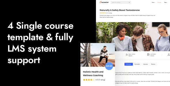 Coursector | LMS Education Online Course WordPress