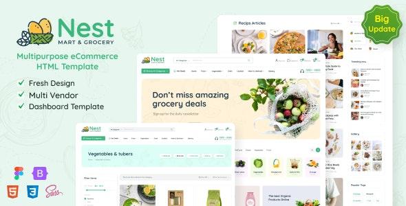 Nest - Multipurpose eCommerce HTML Template - Retail Site Templates