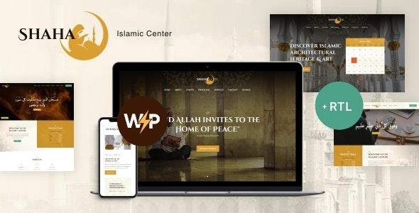 Shaha | Islamic Centre & Mosque WordPress Theme + RTL + Elementor - Churches Nonprofit