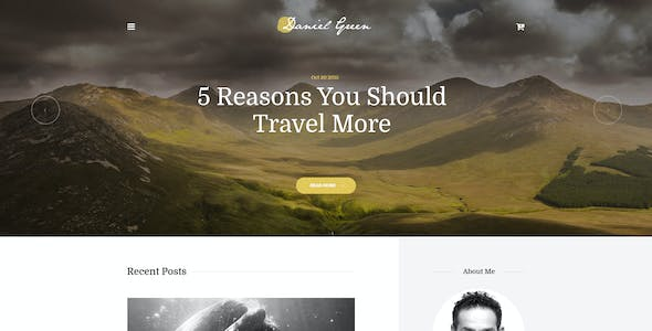 Blog for Writers and Journalists With Bookstore WordPress Theme