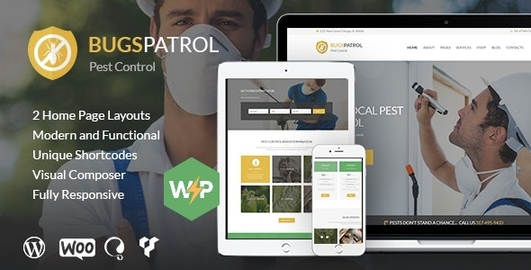 BugsPatrol - Pest & Insects Control Disinsection Services WordPress Theme - Business Corporate