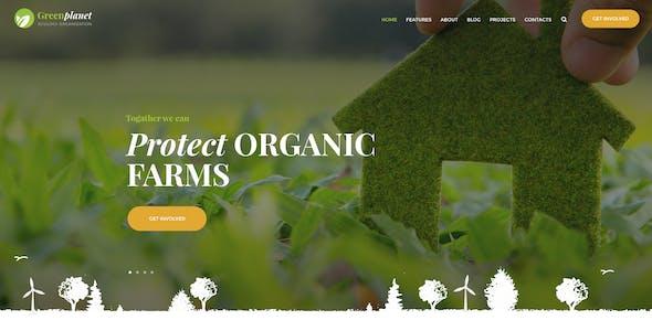 Green Planet | Environmental Non-Profit Organization WordPress Theme