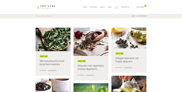 TheLeaf - Tea Production Company & Online Coffee Shop WordPress Theme