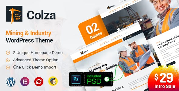 Colza - Mining & Industry WordPress Theme