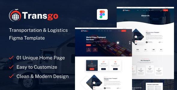 Transgo - Transportation & Logistics Figma Template - Figma UI Templates