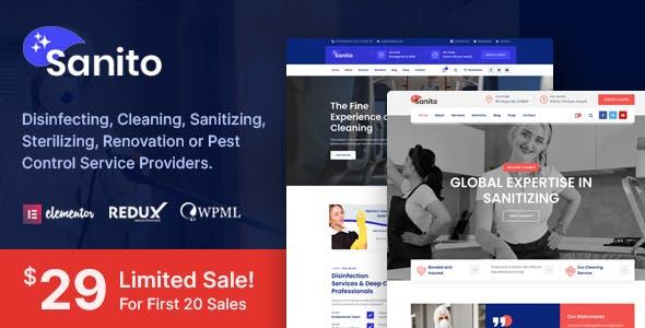 Sanito - Sanitizing and Cleaning WordPress Theme
