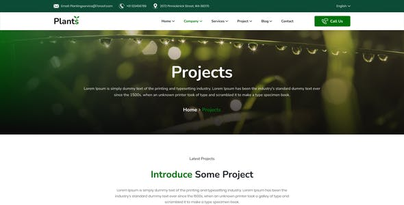 Plantstore – Gardening and Landscaping Figma Template