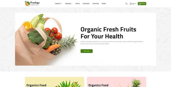 FreshGo - Organic & Supermarket Opencart Food Store