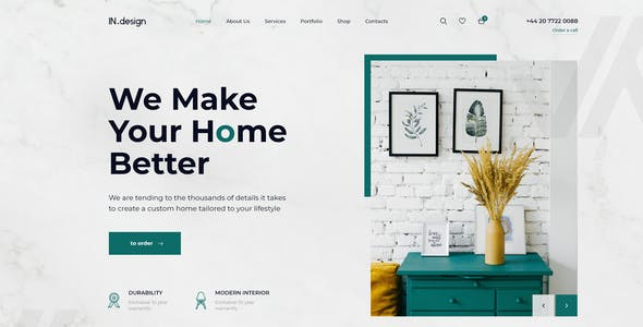 Mint - Interior Design XD Template