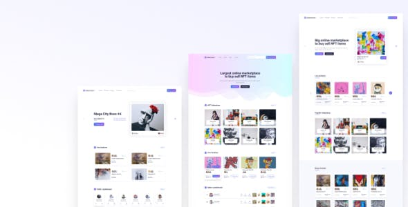 Tokenmart - NFT Marketplace HTML Site Template