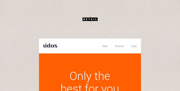 Udos - Multipurpose Responsive E-Newsletter Email Templates