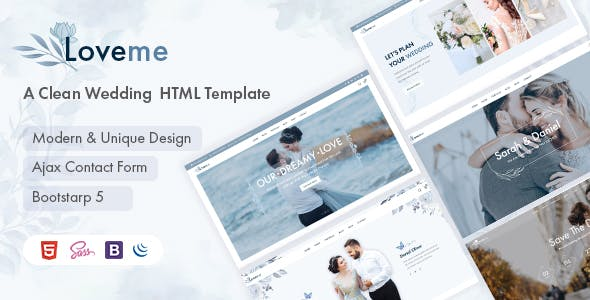 Loveme - Wedding & Wedding Planner HTML5 Template