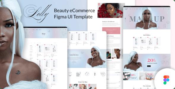 Lolly - Beauty eCommerce Figma UI Template - Health & Beauty Retail